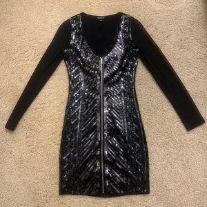 Bebe mini dress sequin xs New Year's Eve dress